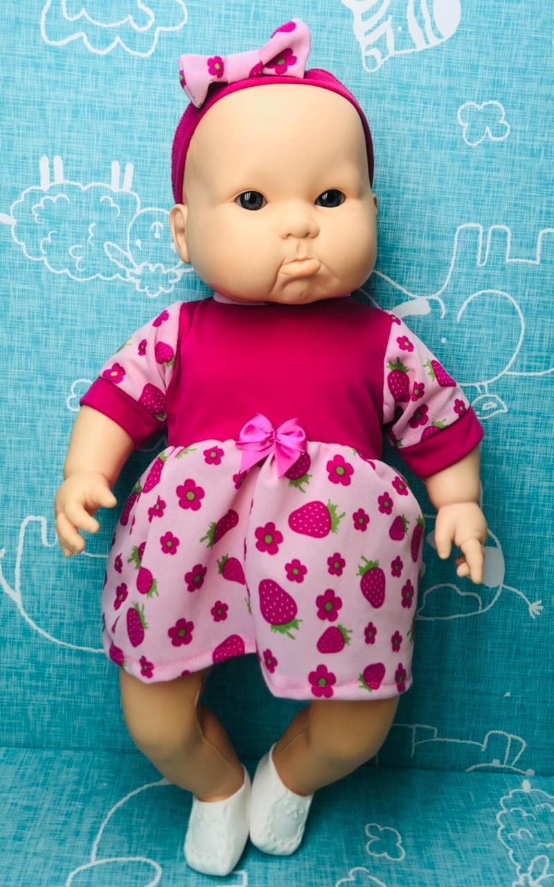 Boneca Infantil Bebê Denguinho Com Acessórios Apolo