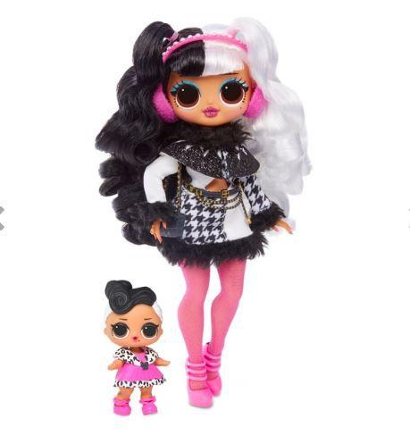 Boneca LOL Surprise OMG Winter Disco Dollie e Dollface 25 Surpresas Candide