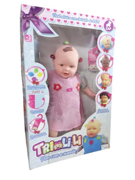 Boneca Tri-li-li Menina Branca Zap