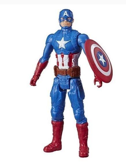 Boneco Articulado Capitão América Marvel Avengers Blast Gear Titan Hero Series Hasbro