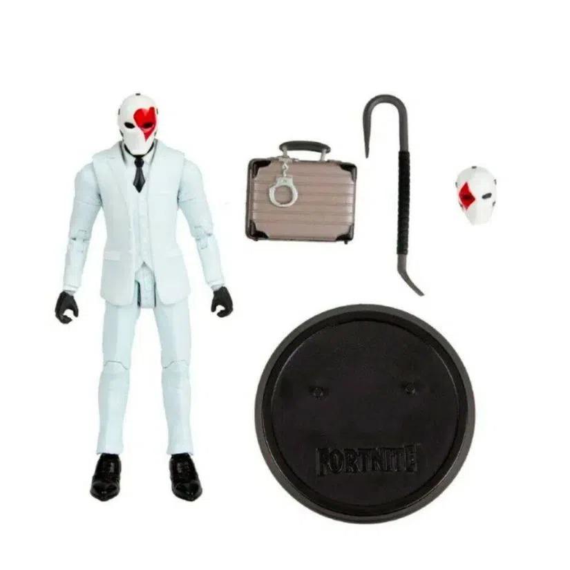 Boneco Articulado Colecionável Fortnite Wild Card Red Suit 17cm Fun