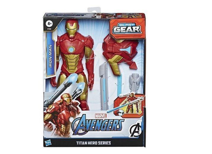 Boneco Articulado Homem De Ferro Marvel Avengers Blast Gear Titan Hero Series Hasbro