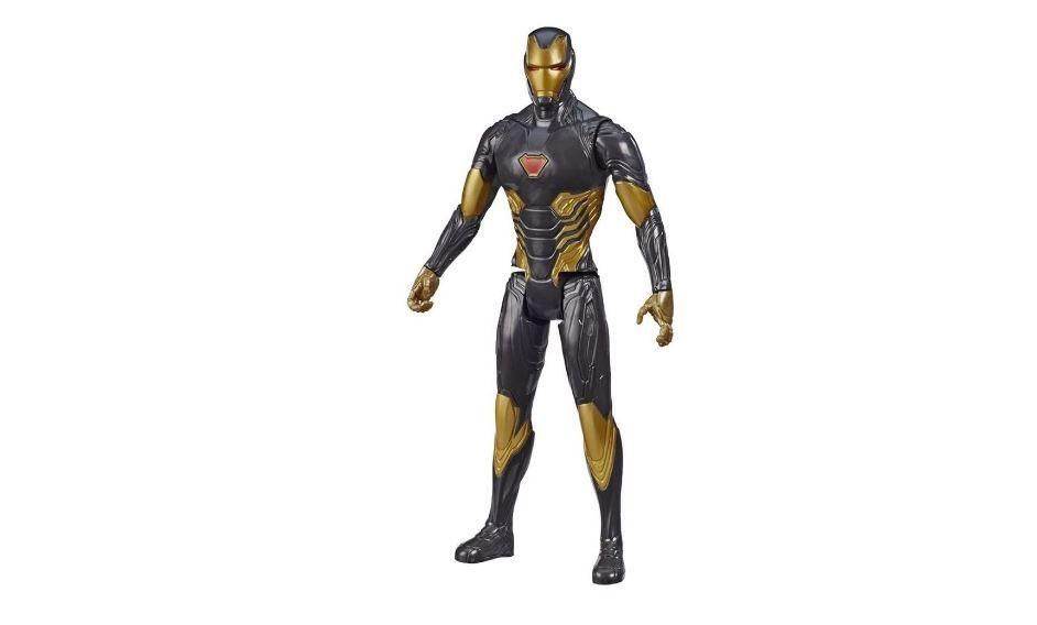 Boneco Articulado Iron Man Black Marvel Avengers Blast Gear Titan Hero Series Hasbro