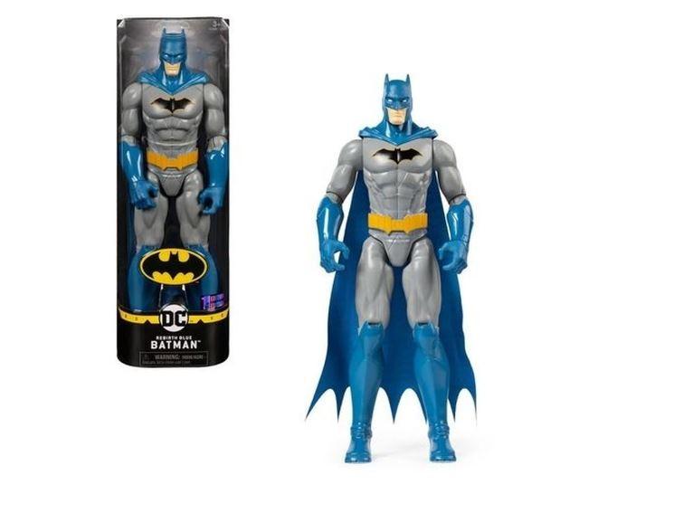 Boneco Batman Renascimento Azul 30cm Articulado DC Comics Spin Master Sunny