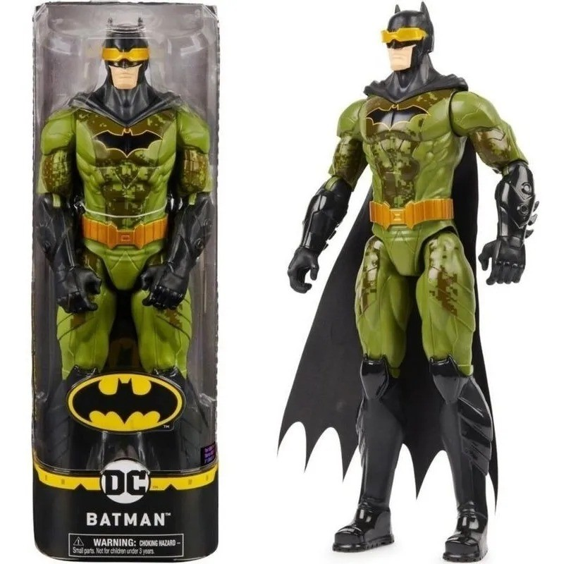 Boneco Batman Traje Furtivo Verde 30cm Articulado DC Comics Spin Master Sunny