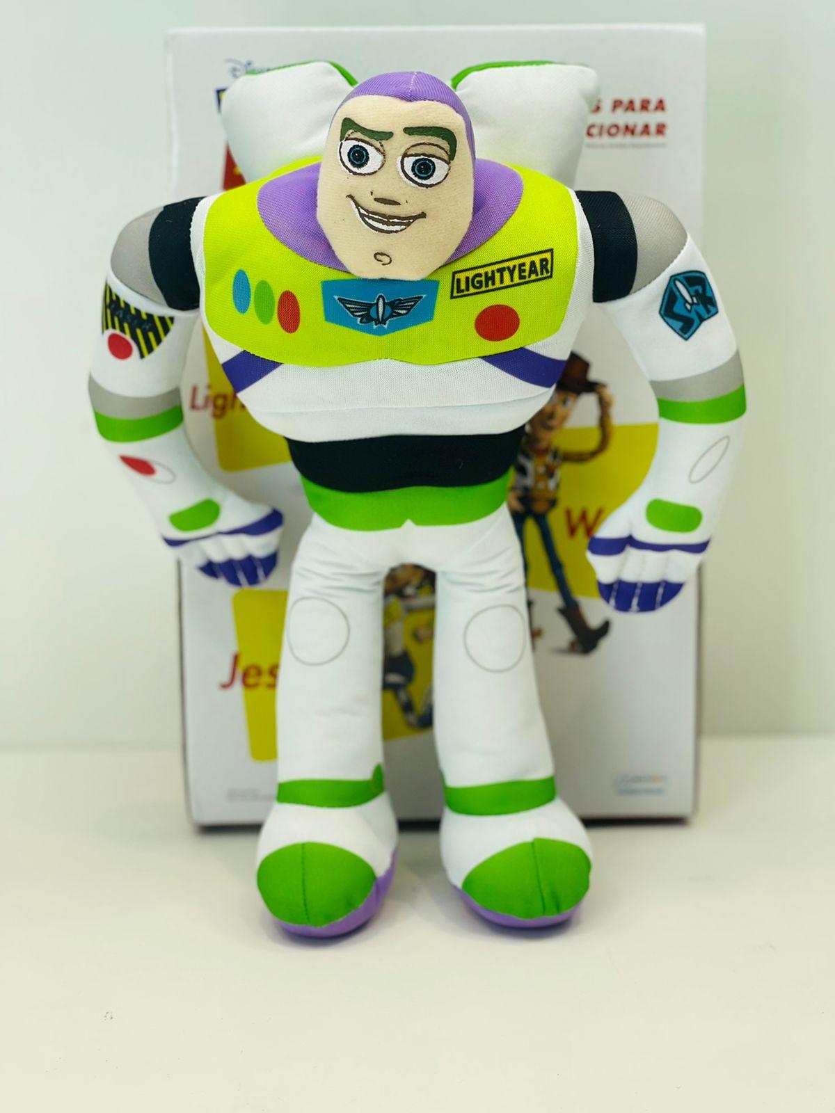 Boneco Buzz Lightyear Em Pelúcia 30cm Com Som Toy Story Disney Multikids