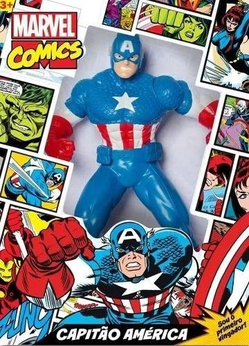 Boneco Capitão América Comics 51 cm Mimo Brinquedos