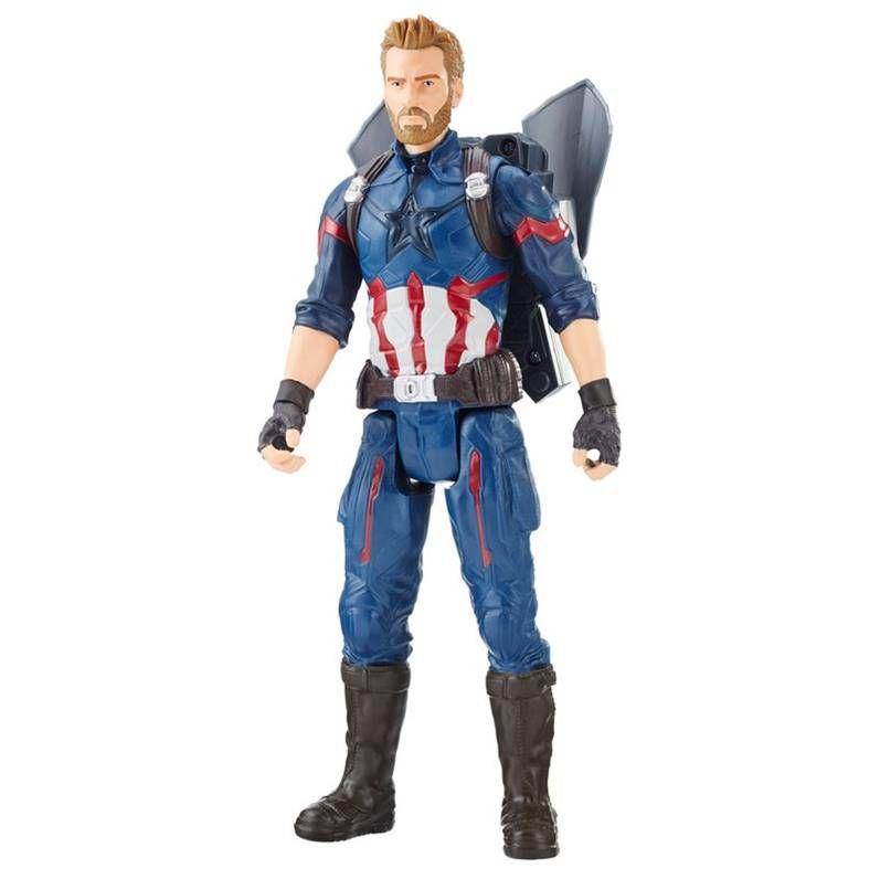 Boneco Capitão America Power Fx E0607 Hasbro