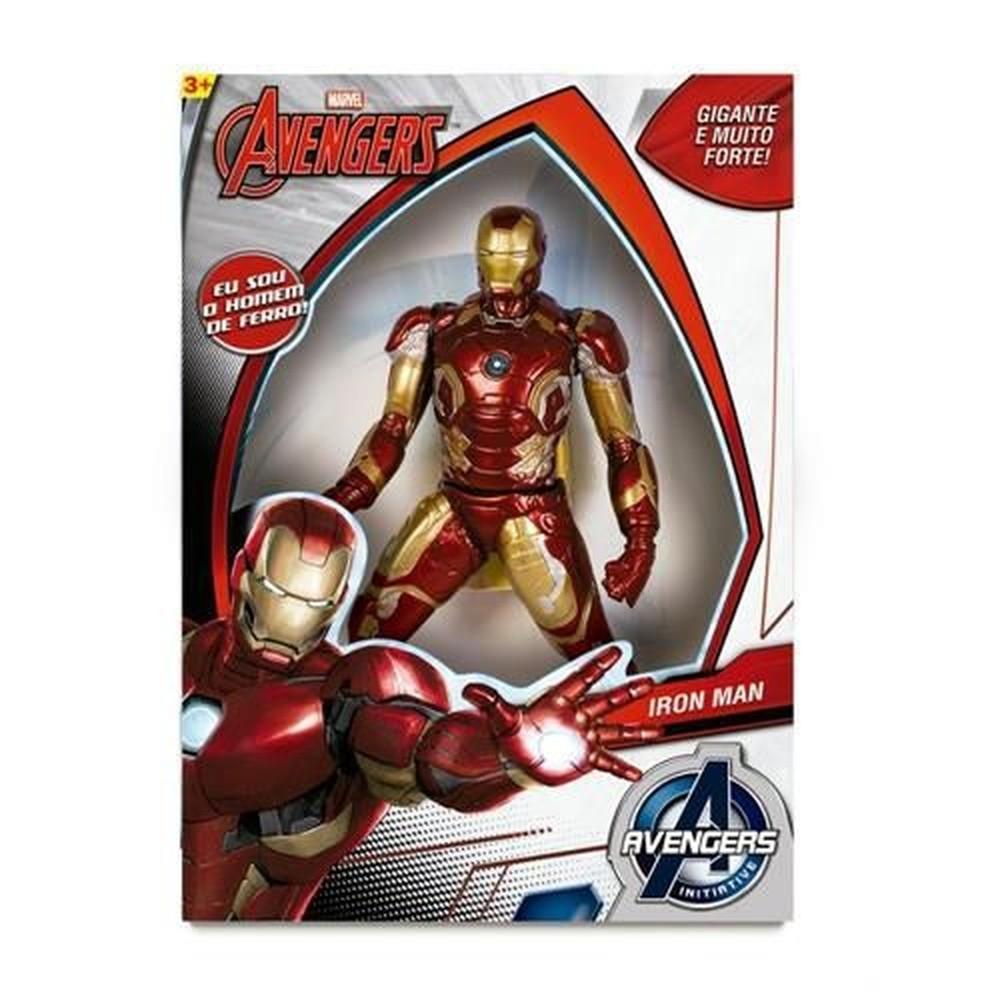 Boneco Homem de Ferro Gigante 50cm Avengers