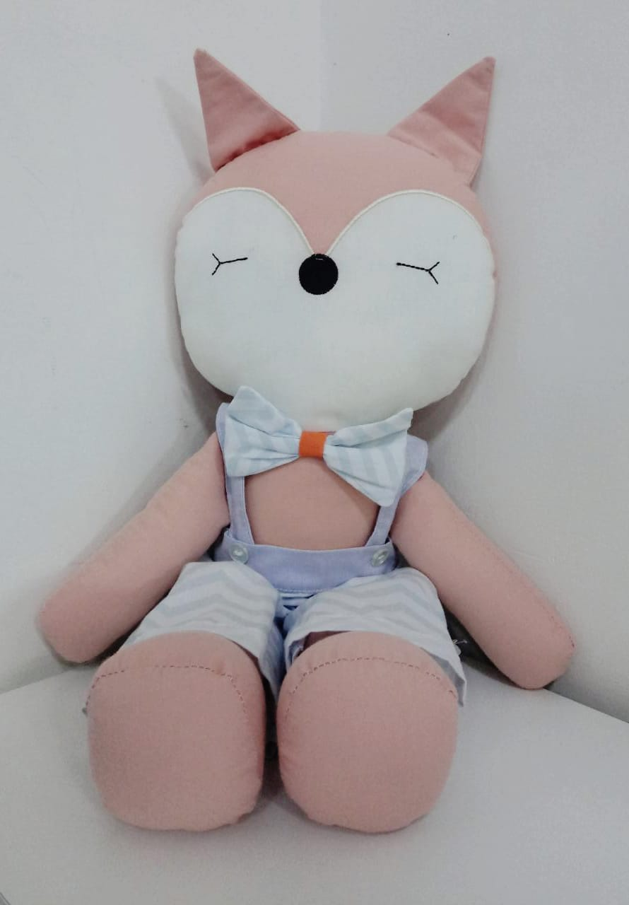 Boneco Raposa em Pano 47 cm 1220 Mury Baby