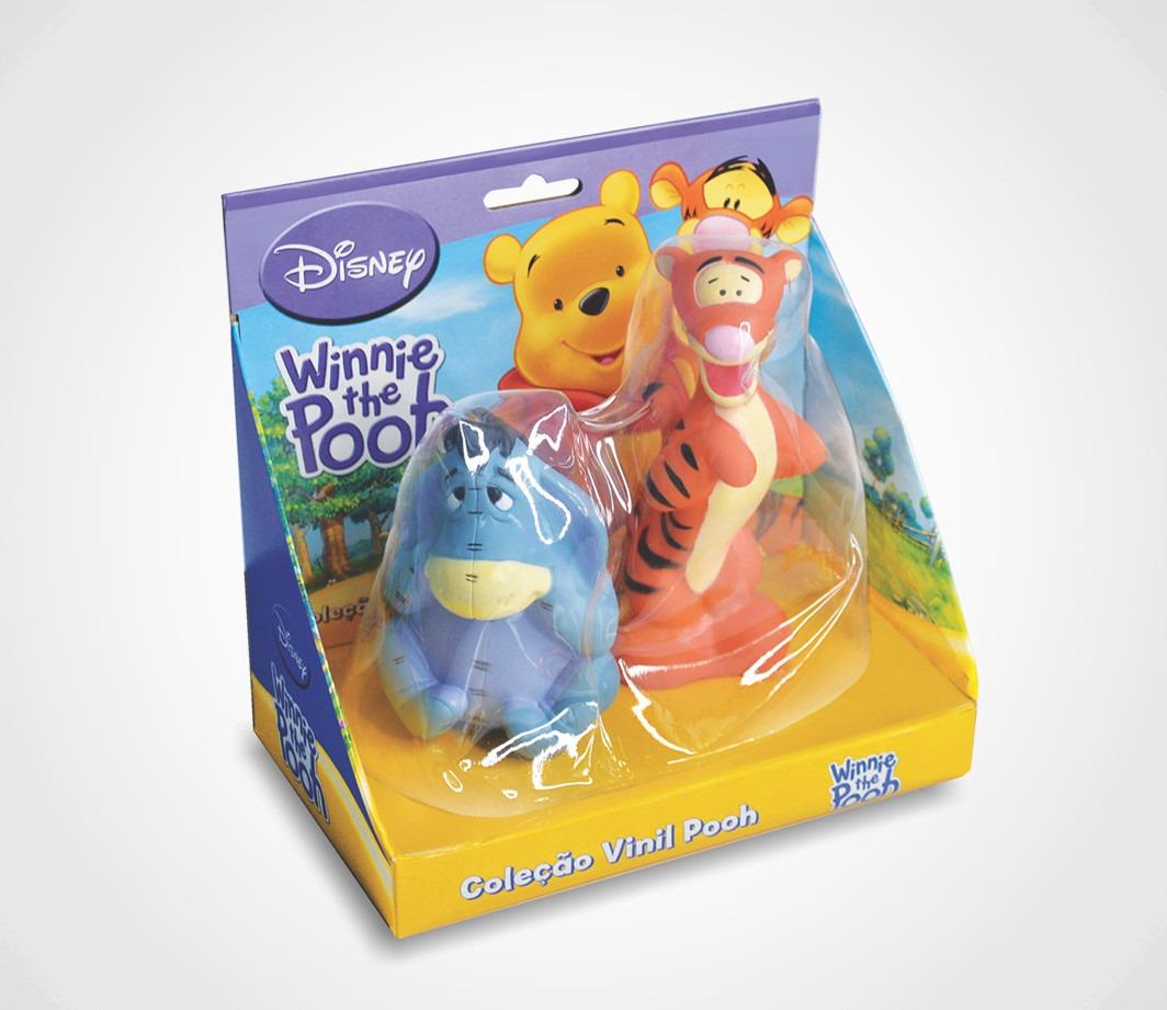 Bonecos Em Vinil Colorido e Fofinho Ursinho Pooh Ió (bisonho) + Tigrão Lider Brinquedos