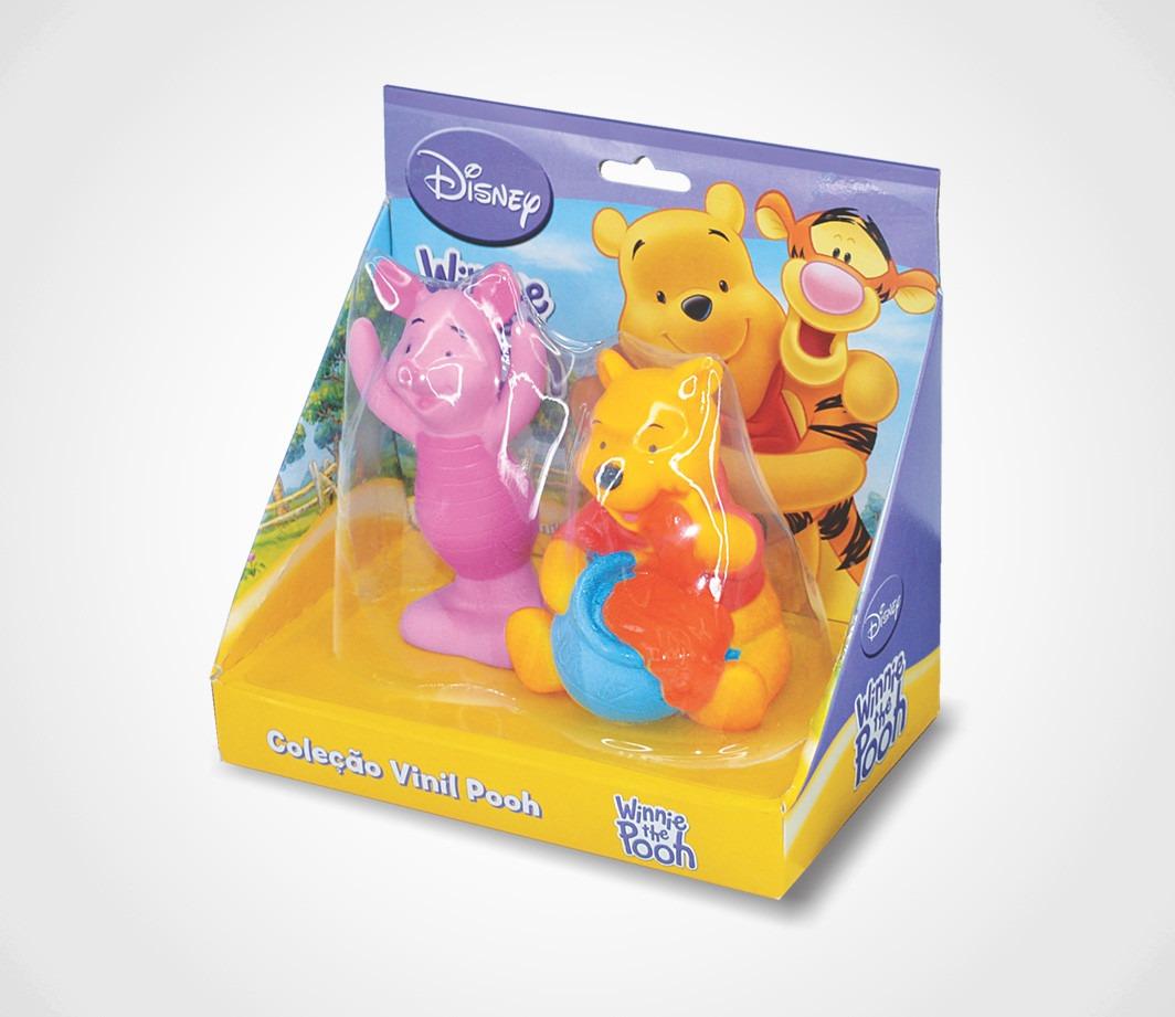 Bonecos Em Vinil Colorido e Fofinho Ursinho Pooh + Leitão Lider Brinquedos