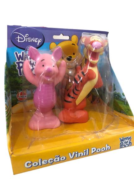 Bonecos Em Vinil Colorido e Fofinho Ursinho Pooh Leitão + Tigrão Lider Brinquedos