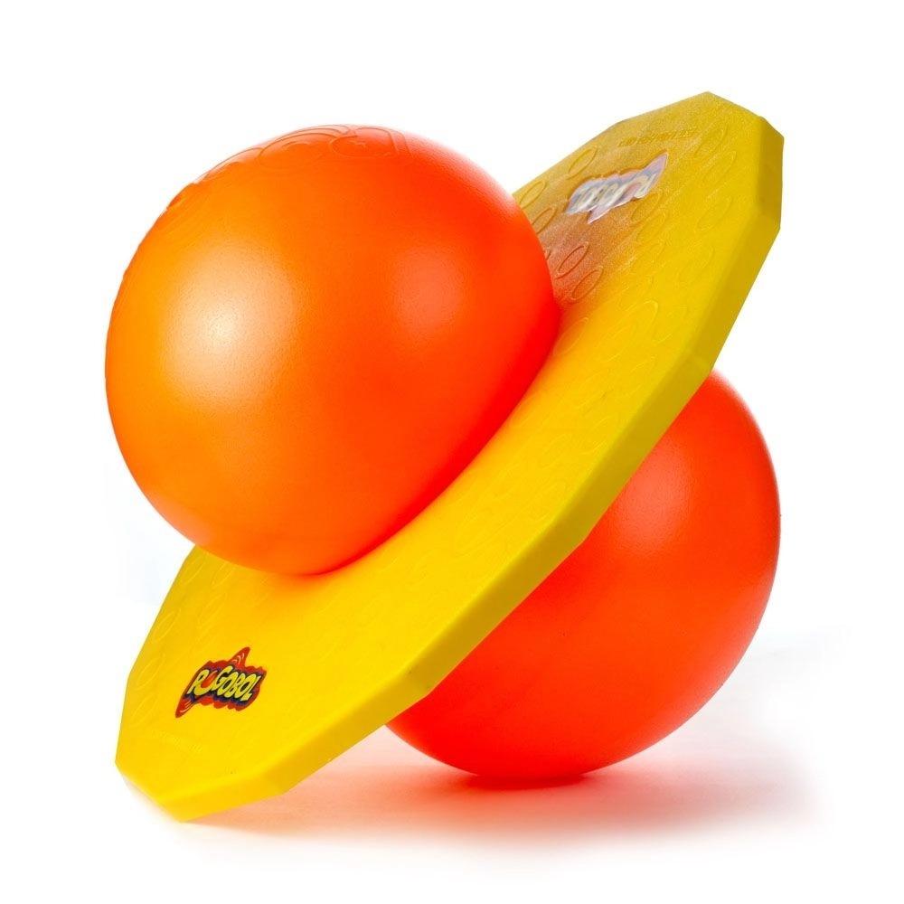 Brinquedo Divertido Pula Pula Pogobol Amarelo E Laranja Estrela
