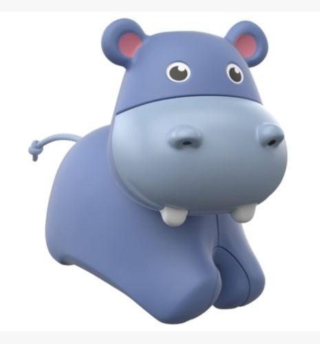 Brinquedo e Chocalho Fisher Price Animais Com Rodas Hipopótamo Que Rola  FRR65