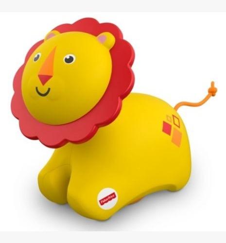 Brinquedo e Chocalho Fisher Price Animais Com Rodas Leão Que Rola  FRR65