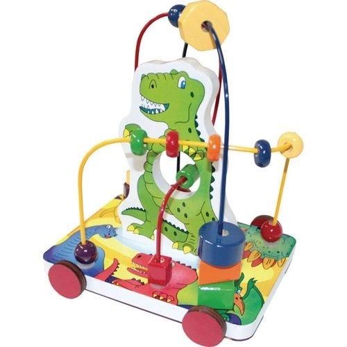 Brinquedo Educativo Aramado Dinossauro Em M.D.F Com 03 Circuitos E 17 Peças Carlu 3116