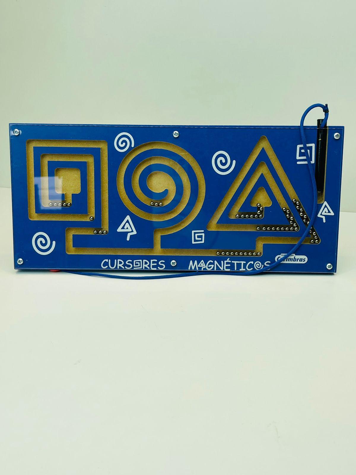 Brinquedo Educativo Cursores Magnéticos Em Madeira 4835 Carimbras