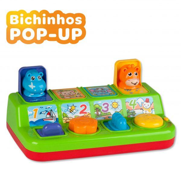 Brinquedo Interativo E Divertido Bichinhos Pop-Up Com Som e Luzes Zoop Toys