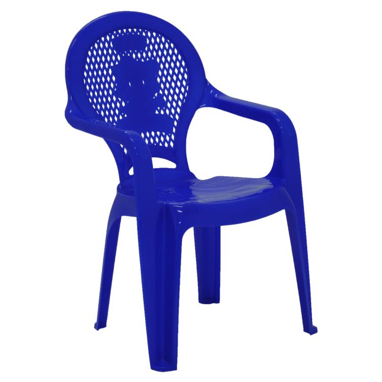 Cadeira Infantil tramontina Catty Estampada Em Polipropileno Azul Escuro
