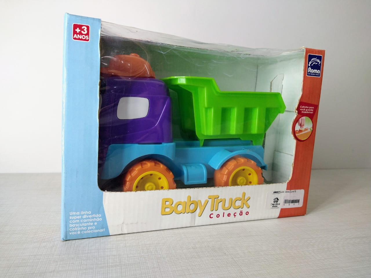 Caminhão Baby Truck Roda Livre Com Caçamba Basculante Roma Brinquedos