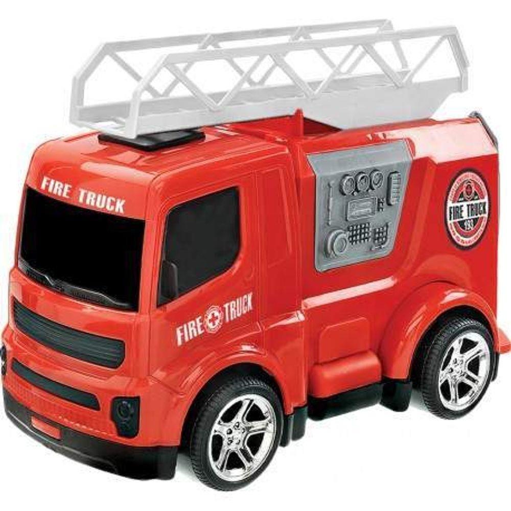 Caminhão Corpo De Bombeiros Fire Truck Usual Brinquedos