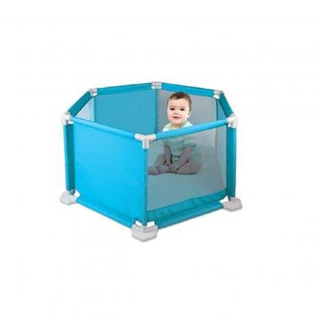Cercado Para Bebê Azul Com Tapete Macio Braskit