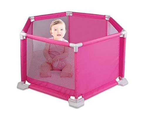 Cercado Para Bebê Rosa Com Tapete Macio Braskit