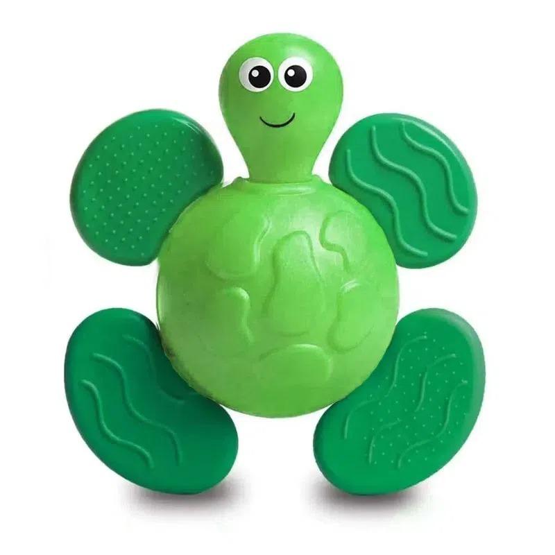 Chocalho Mordedor Bichitos Fofinho Verde Com Textura 1092 Elka