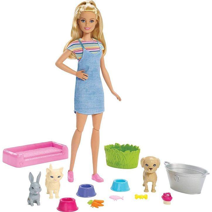 Conjunto Barbie Banho De Cachorrinhos Com Boneca E Acessórios Mattel