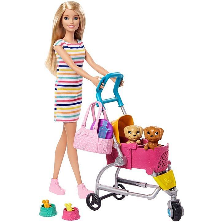 Conjunto Barbie Com Boneca E Carrinho Para Cachorrinhos Mattel