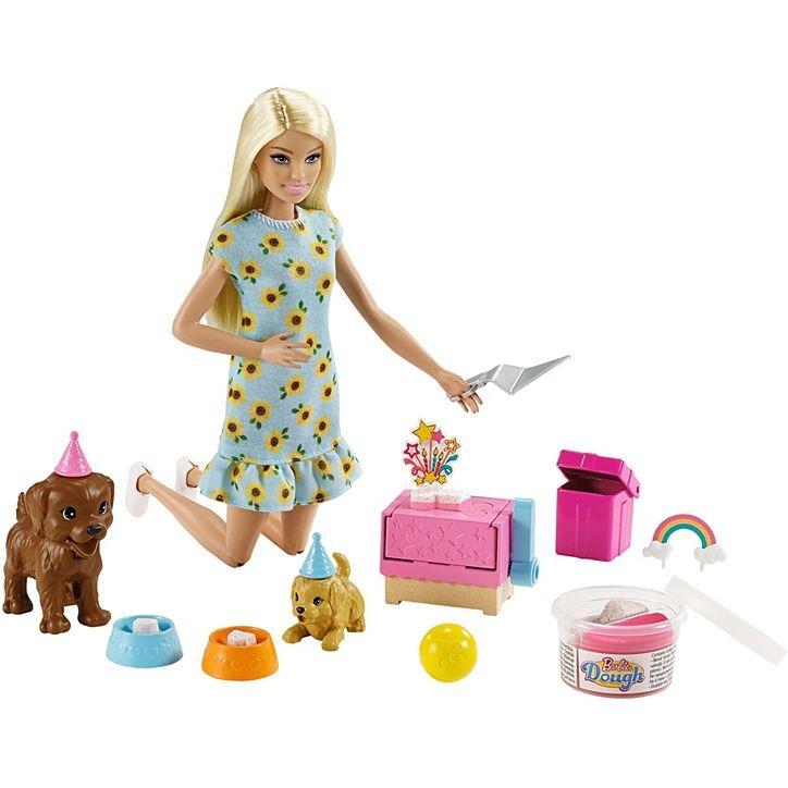 Conjunto Barbie Festa Do Filhote Com Cachorrinhos E Massa De Modelar Mattel