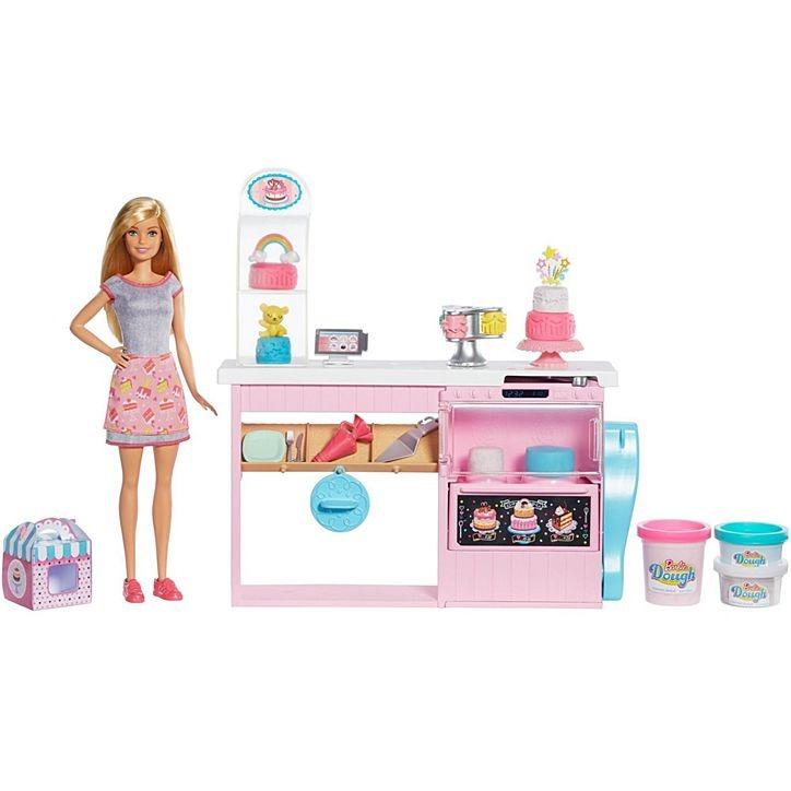 Conjunto Barbie Profissões Chef De Bolinhos Playset Decoração De Bolos Com Massa De Modelar Mattel