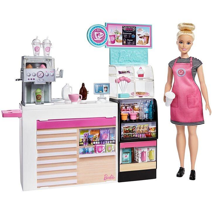 Conjunto Barbie Profissões Playset Coffee Shop Cafeteria Da Barbie Com Acessórios Mattel