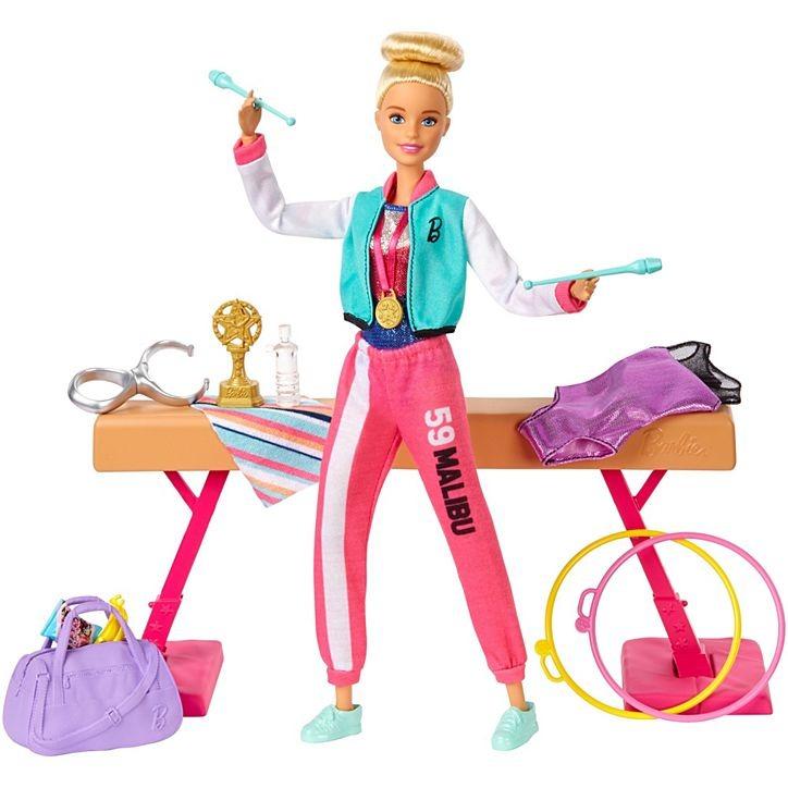 Conjunto Boneca Barbie Profissões Ginasta Playset Com Acessórios Mattel