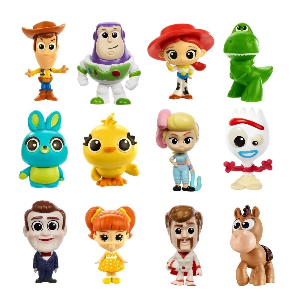 Conjunto Com 12 Mini Figuras Colecionaveis Toy Story 4 Disney Pixar Mattel
