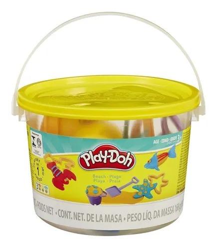 Conjunto De Massinha De Modelar Play-Doh Mini Balde De Praia
