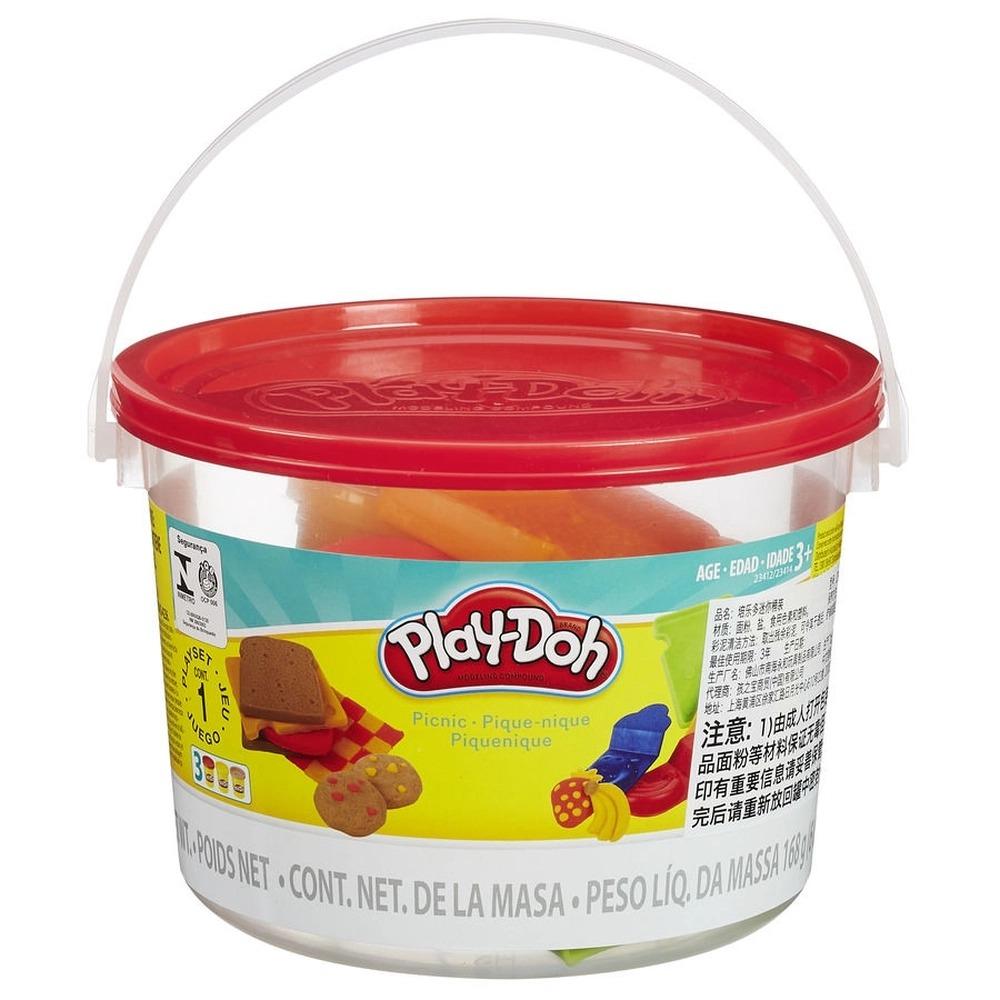 Conjunto De Massinha De Modelar Play-Doh Mini Balde Piquenique