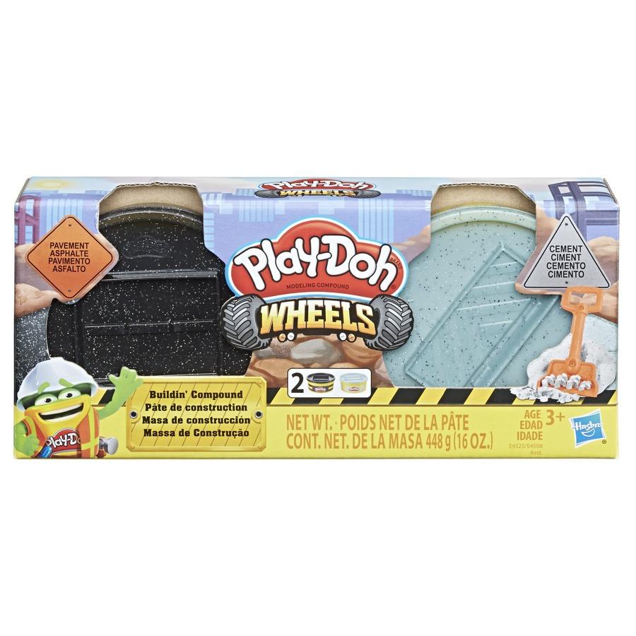 Conjunto De Massinha De Modelar Play-Doh Wheels Massa De Construção Asfalto E Cimento