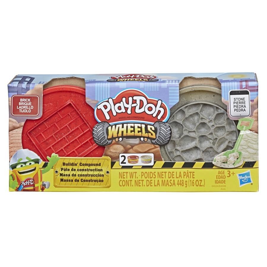 Conjunto De Massinha De Modelar Play-Doh Wheels Massa De Construção Pedra E Tijolo