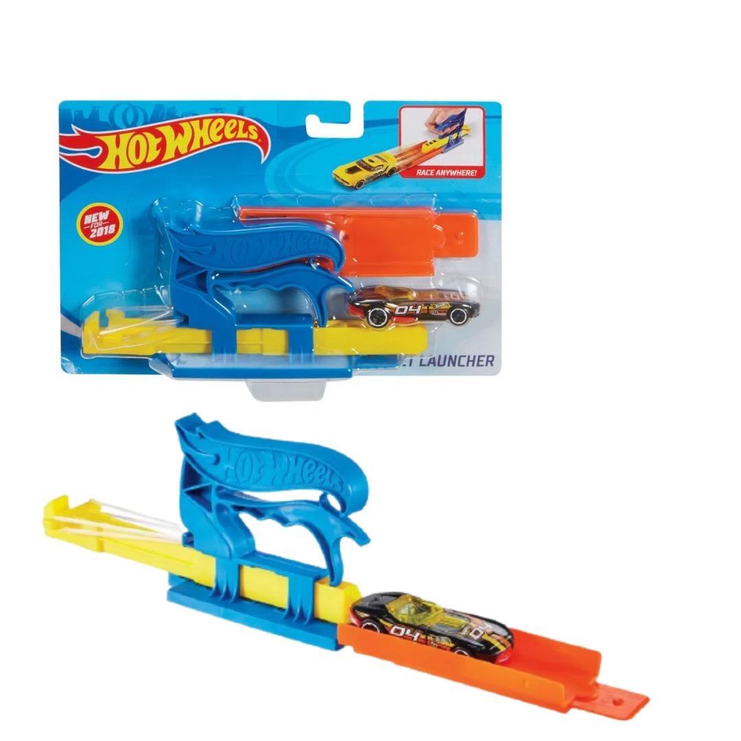 Conjunto Hot Wheels Lançador De Bolso Azul Com 1x Carrinho Mattel