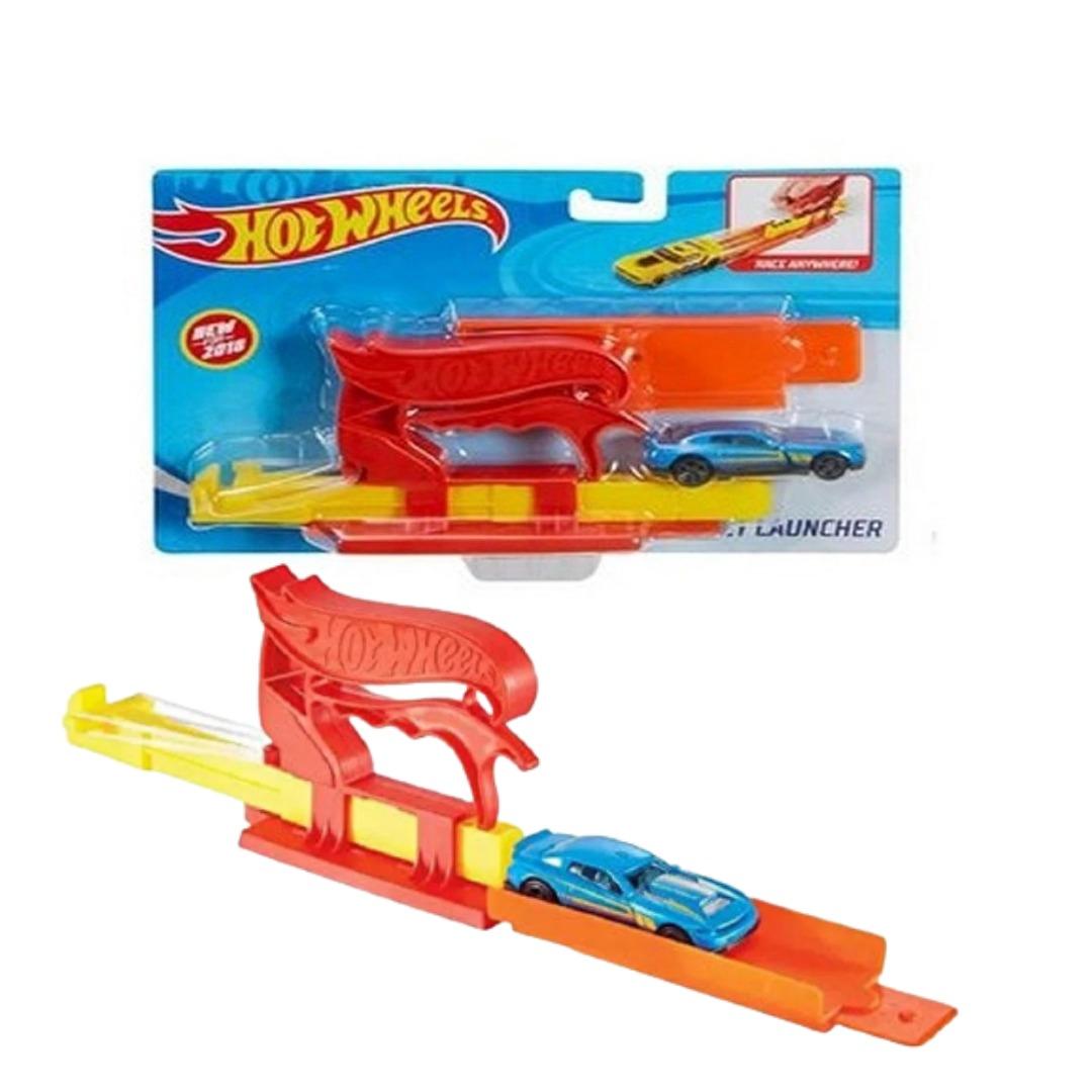 Conjunto Hot Wheels Lançador De Bolso Vermelho Com 1x Carrinho Mattel