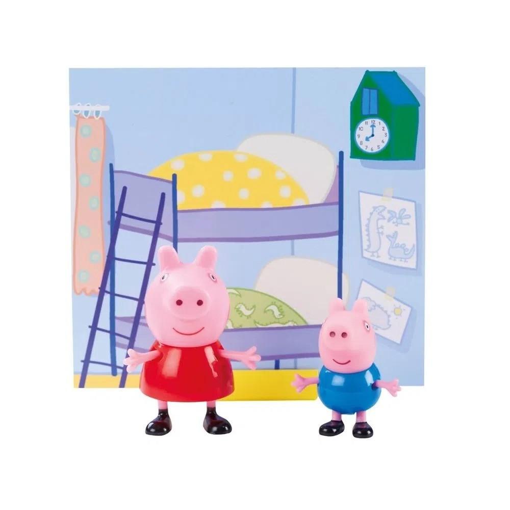 Conjunto Mini Figuras Com Acessórios Peppa Pig e Jorge Pig Sunny