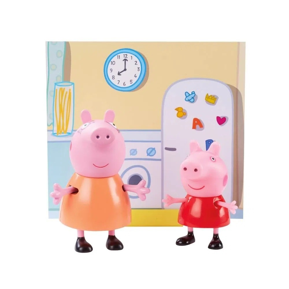 Conjunto Mini Figuras Com Acessórios Peppa Pig e Mamãe Pig Sunny