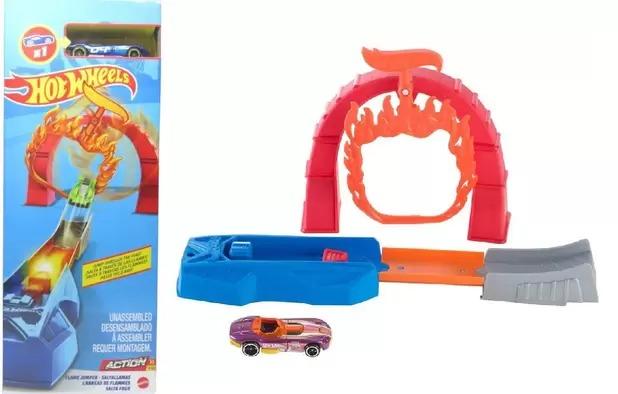 Conjunto Pista De Percurso Hot Wheels Action Com 1x Carrinho  Set De Acrobacias Salta Fogo Mattel