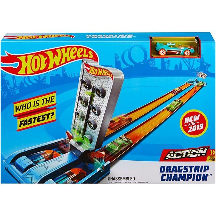 Conjunto Pista De Percurso Hot Wheels Campeonato De Corridas Com 1x Carrinho Mattel