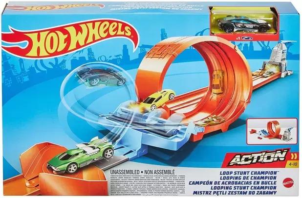 Conjunto Pista De Percurso Hot Wheels Campeonato De Looping Com 1x Carrinho Mattel