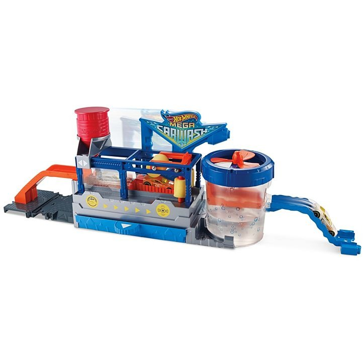 Conjunto Pista De Percurso Hot Wheels City Mega Lava-Rapido Color Shifters 1x Carrinho Muda De Cor Mattel