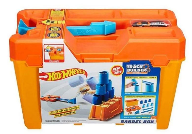 Conjunto Pista De Percurso Hot Wheels Track Builder Caixa De Obstáculos 1x Carrinho Mattel