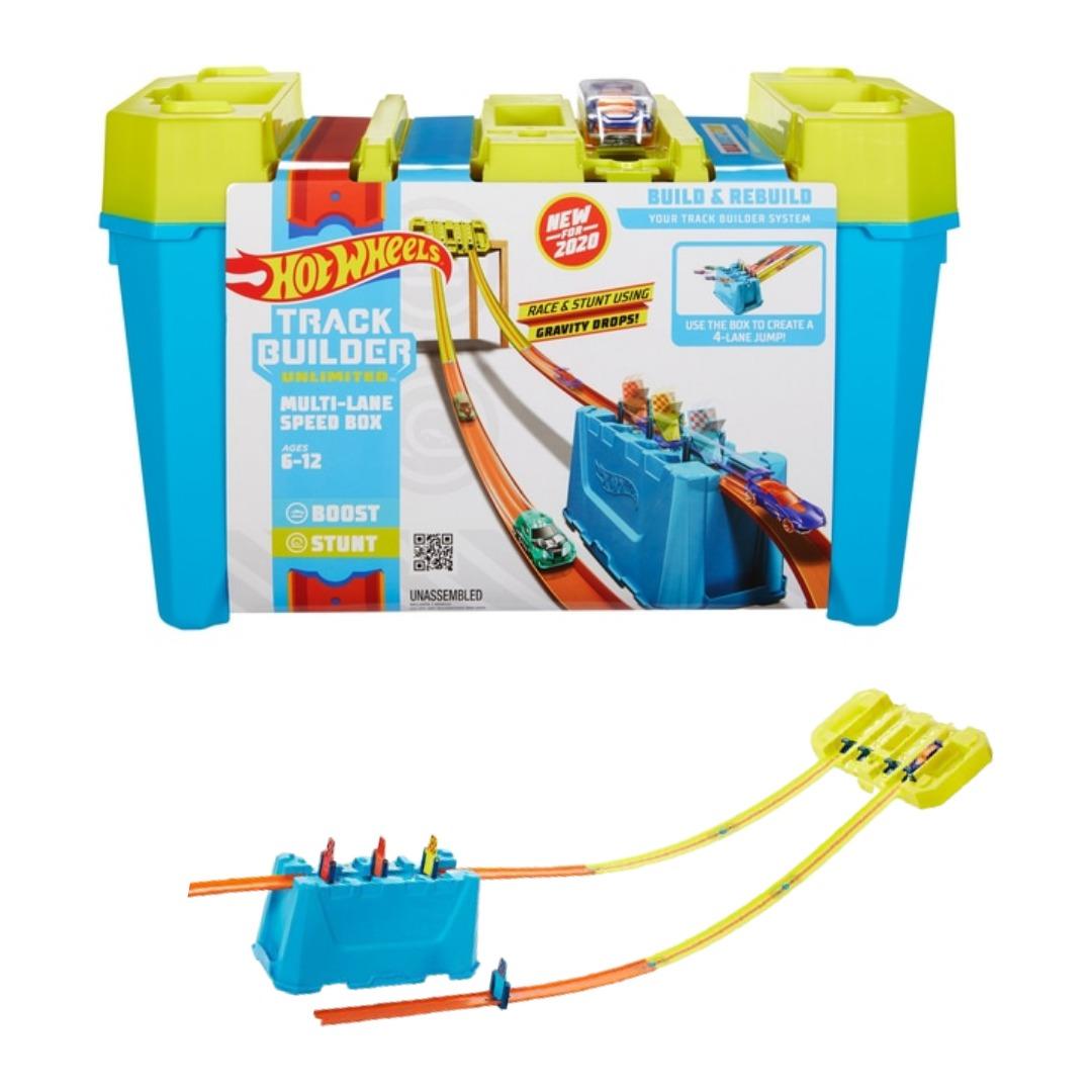Conjunto Pista De Percurso Hot Wheels Track Builder Caixa De Velocidade De Pista Múltiplas 1x Carrinho Mattel